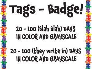 FREEBIE 100 Days Tags – Badge